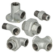 Malleable-iron pipe fittings, galvanised