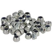Hex lock nuts, galvanised