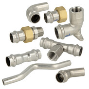 Stainless steel press fittings contour V