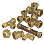 Brass clamp ring screw connection