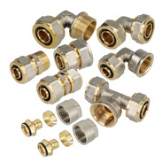 Compression fittings for multi-layer metal pipe