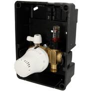 Simplex cassetta da incasso con termoreg incorporato, termostato bianco