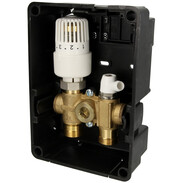 Simplex cassetta incasso termoreg.RTL-I incorp. termostato standard, bianco