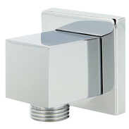 Wall connection elbow Quattro chrome-plated brass, with BFP