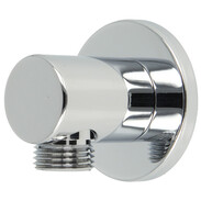 Wall connection elbow Style with backflow preventer brass