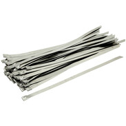 Stainless steel cable ties 12 x 440 mm with ball locking absolutely fireproof