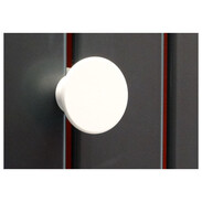 Towel holder for OEG bathroom radiator white, round for Tuvalu