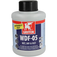 PVC solvent cement Griffon WDF-05 500-ml bottle with brush
