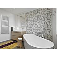 OEG bathroom radiator set Bahama curved