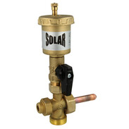 Solar vent with valve