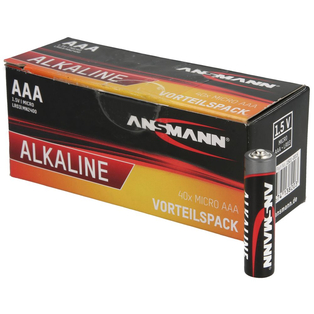 Red Alkaline Micro AAA LR03 batteries box of 40