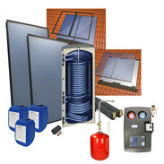 Solar package 4plus in-roof with 300 l heat pump storage tank + 2 collectors 516000906