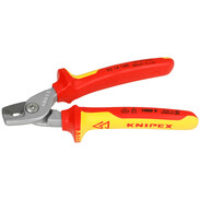 VDE cable shears with set cutting edge
