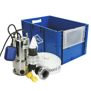 Flood box with submersible pump and 20 meters C-hose