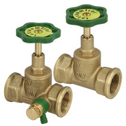 Straight-seat valves with rising stem