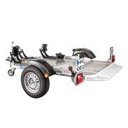 Lowerable folding trailer