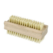 Wooden hand-wash brush with natural fibre bristles