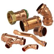 Press fittings copper contour V