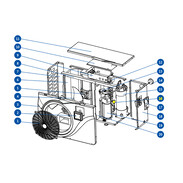 Electronic expansion valve for OEG pool heat pump
