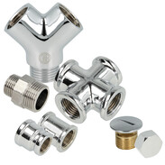 Threaded fittings brass chrome-plated