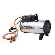 Gas-operated fan heater for LPG