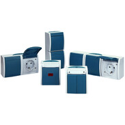 Busch-Jaeger surface-mounted wet room switch product range ocean®