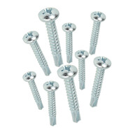 Drilling screw with cross-recessed pan head