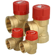 Safety valves for heating