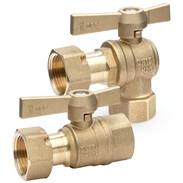 Water meter ball valves