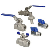 Ball valves made of stainless steel