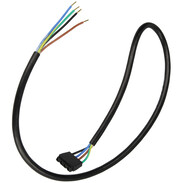 Connection cable for preheat nozzle rods