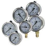 Glycerine-filled pressure gauges