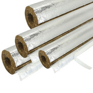 Mineral fibre tubes with 50% insulation