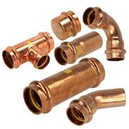Gas press fittings copper contour V