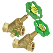 Free-flow valves with rising stem and without draining