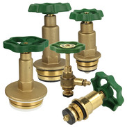Bonnets for free-flow valves with non-rising stem