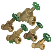 Free-flow valves with non-rising stem without draining