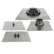 Aluminium-butyl sealing collars