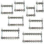 Underfloor heating manifolds with lockshields