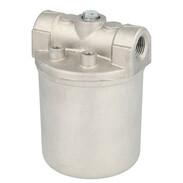 Aluminium heating oil filter