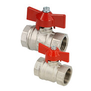 Brass ball valves with wing handle IT/IT