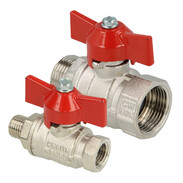 Brass ball valves with wing handle IT/ET