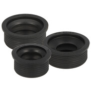 Rubber collars for siphon connections