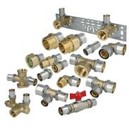 Press fitting for multi-layer composite pipe contour TH