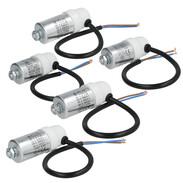 Universal motor capacitors