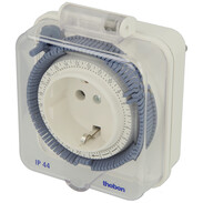 Theben timer 26 IP 44 - 24 h socket timer, analogue, with lid