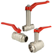Brass balll valves with steel lever red  heavy-duty design
