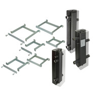 Hydraulic separators and wall mounting sets