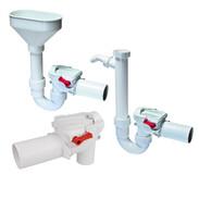 Kessel backwater twin flap valves