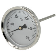 Thermometer bimetal  0 bis +500 °C 100 mm